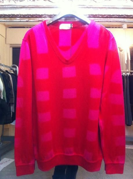 Italian brand ROHKA 2011 knit then painted/dyed sweater in lambs wool. I LOVE it!