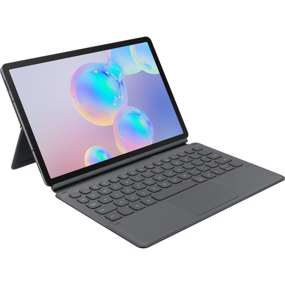 Galaxy Tab S6 Book Cover Keyboard Gray In 2020 Tablet Keyboard Galaxy Tab Samsung Galaxy Tab