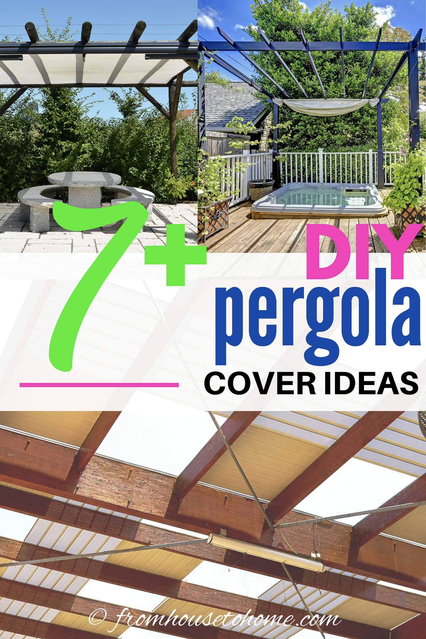 DIY Pergola Cover Ideas: 7 Ways To Protect Your Patio From ... on Patio Cover Ideas For Rain id=51325