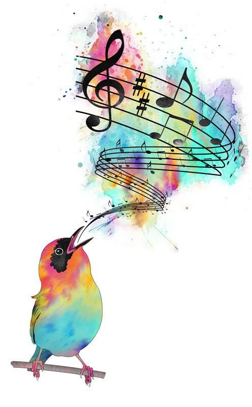 Song Bird Just Like Me Because I Have Singing Lessons And Sing All The Time Music Art Musical Art Music Drawings