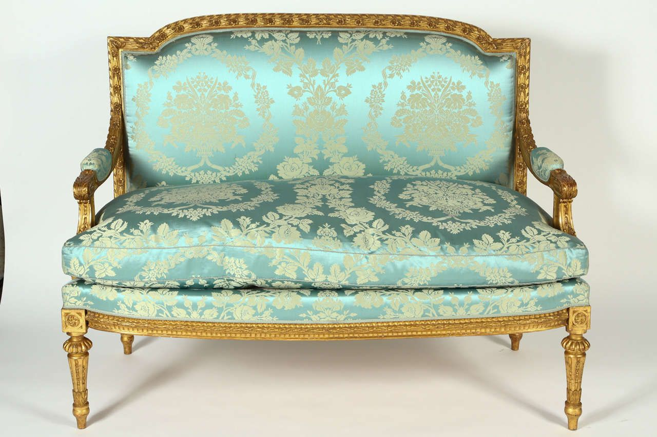 Louis Xvi Stoel : French giltwood louis xvi style settee barbie fauteuil chaise