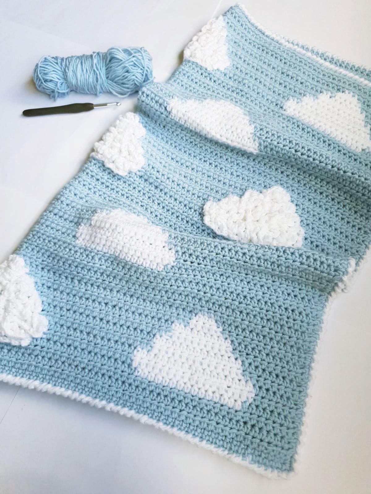 Fluffy Cloud Crochet Blanket Pattern // PDF File // Neutral   Etsy ...