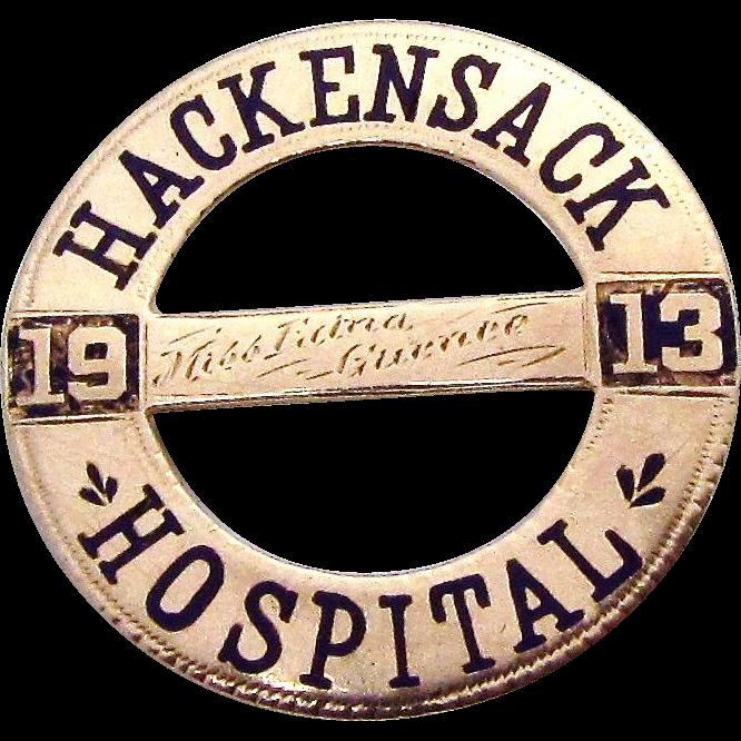 Antique 10K Rose Gold 1913 Hackensack Hospital Nursing