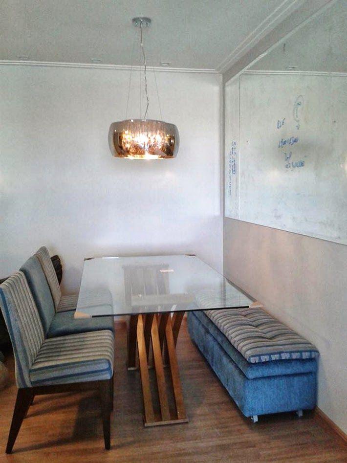 Mesa De Jantar Banco Com Bau Com Imagens Mesa Para Cozinha