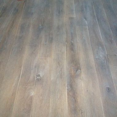 White Oak Flooring Finished With Rubio Monocoat Fumed Pure Natural