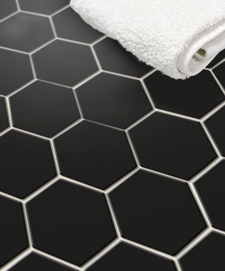 Quelle Classe Carrelage Noir Hexagonal Decoration Classique