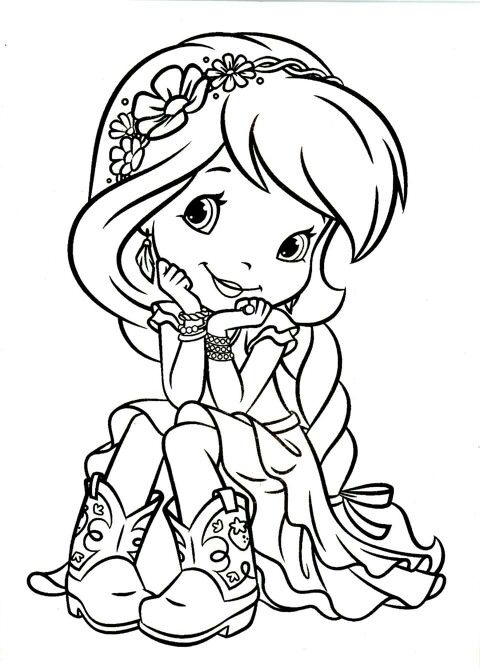christmas strawberry shortcake coloring pages - photo#40