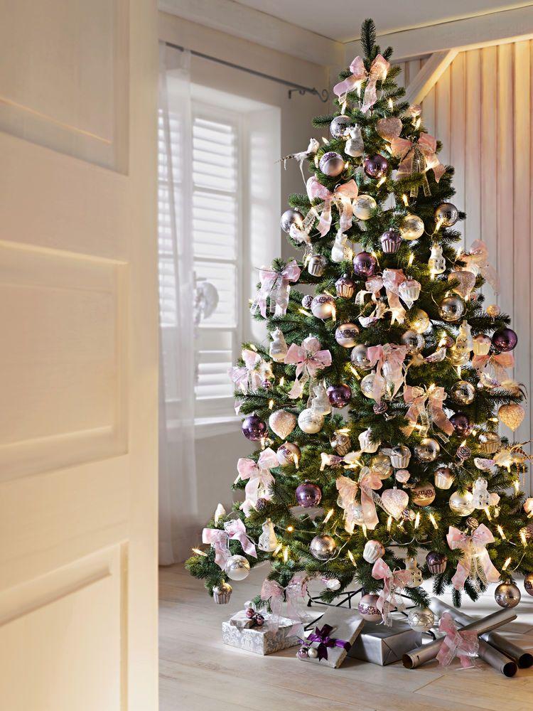 decoration de noel chic rose et parme | Christmas | Pinterest