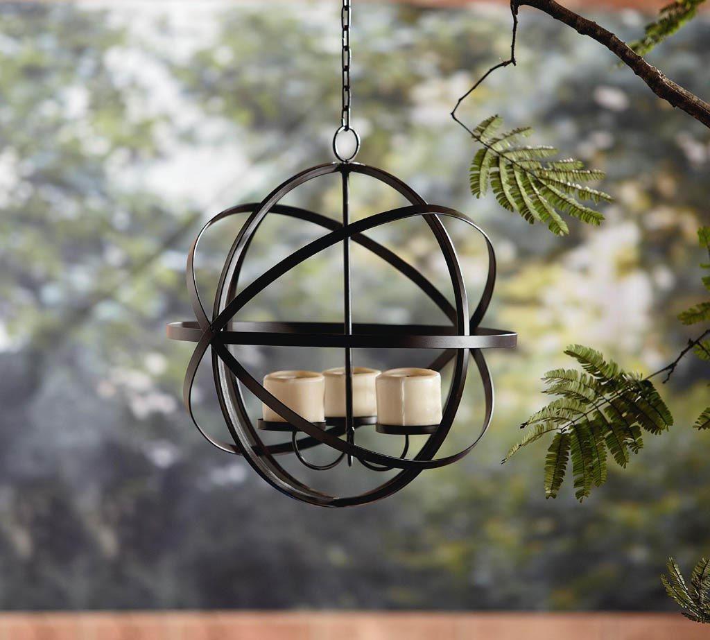 Outdoor Hanging Candle Chandelier Gazebo Backyard Patio Votive – Outdoor Votive Candle Chandelier