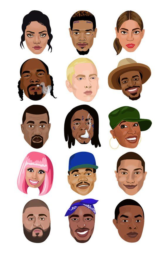 cafcf45a5 HIP HOP LEGENDS - hiphop clipart icons