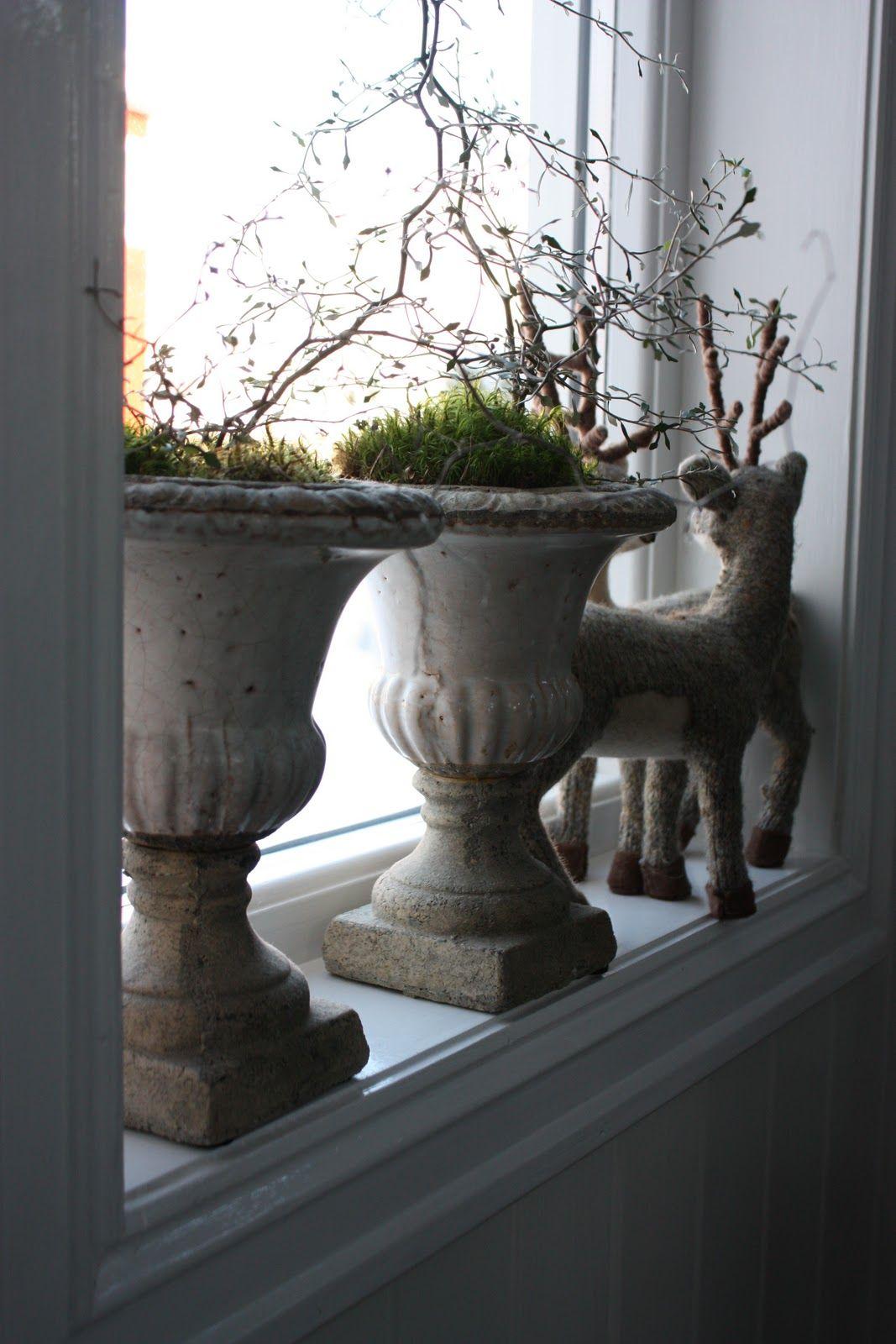 Prachtige potten idee n voor het huis pinterest vensterbank landelijke kerstversiering en - Rustieke eetkamer decoratie ...