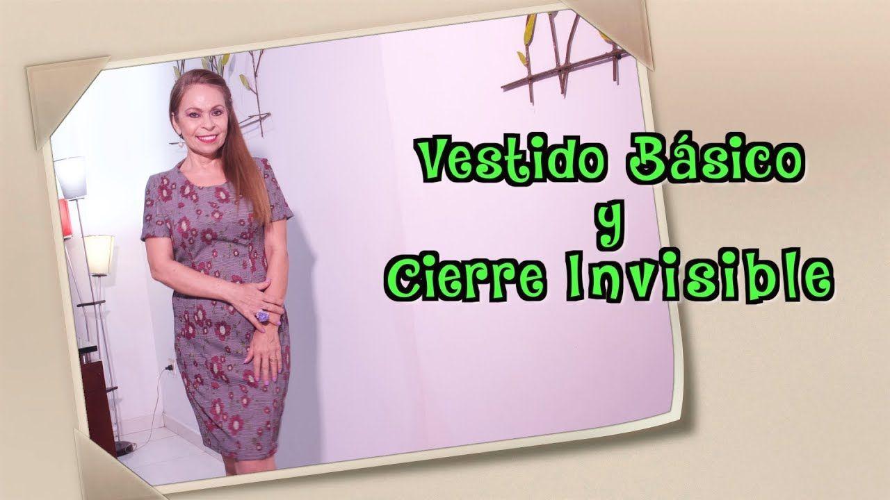 38677b89d DIY Vestido Básico y Cierre Invisible- Basic Dress and Invisible Closur.