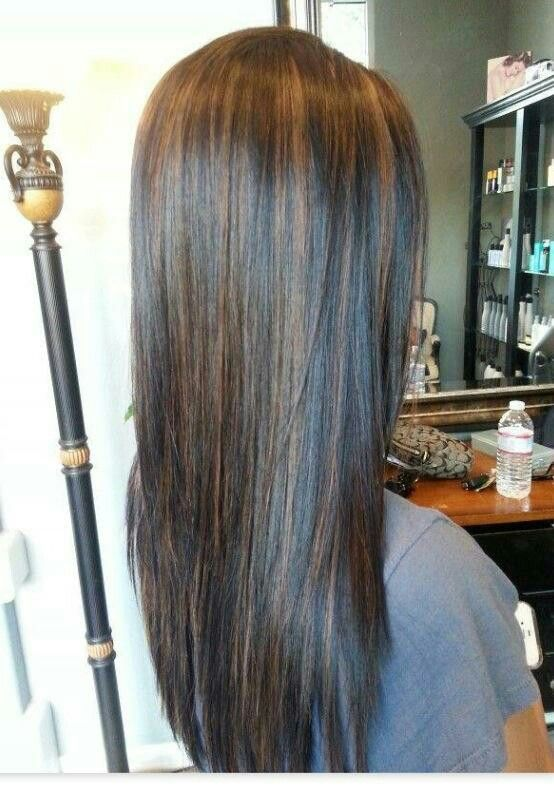 Brown Highlights Hair Styles Hair Highlights Black Hair With Highlights