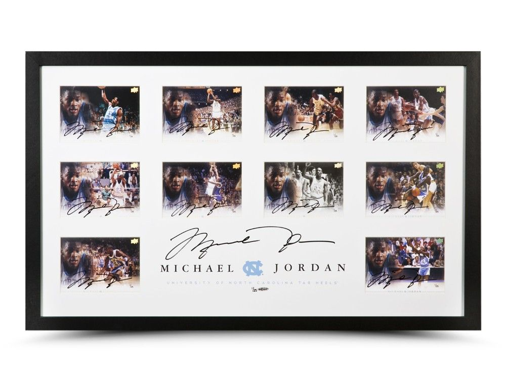Michael Jordan Autographed University of North Carolina Collection ...