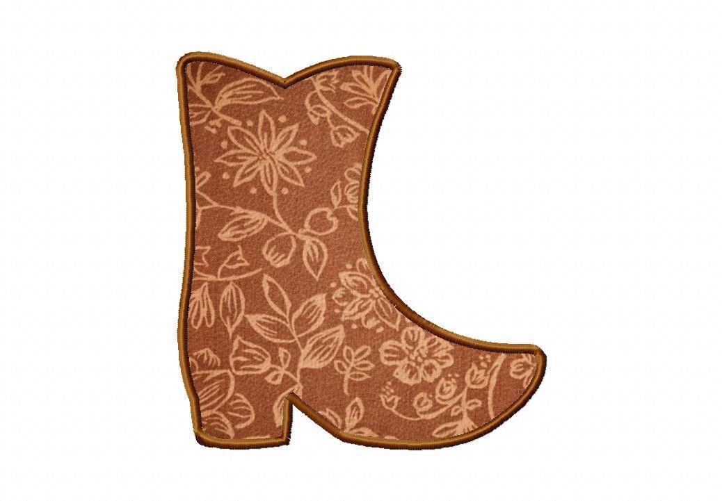 Free Applique Patterns Download   Free Machine Applique Cowboy Boots