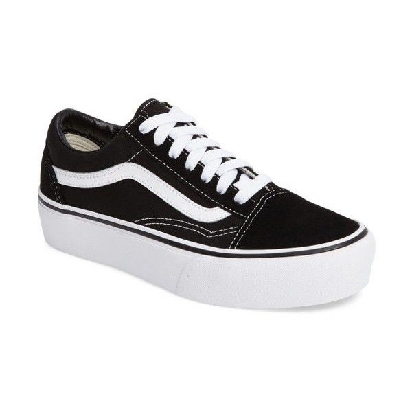 Women's Vans Old Skool Platform Sneaker ($65) ❤ liked on Polyvore featuring  shoes,