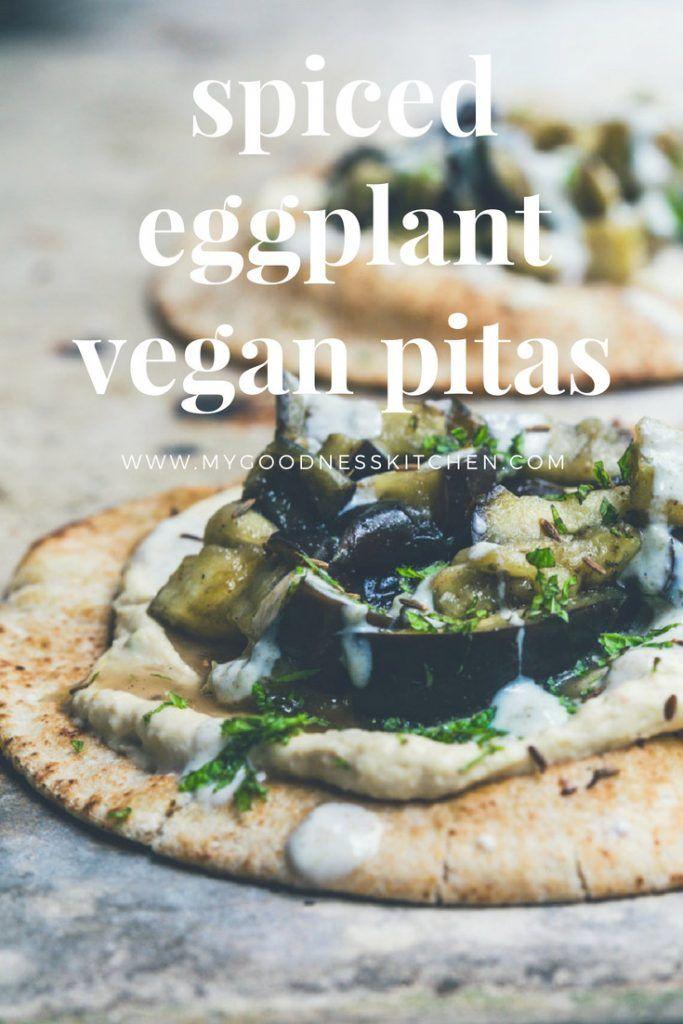 Spiced Eggplant Brunch Pitas