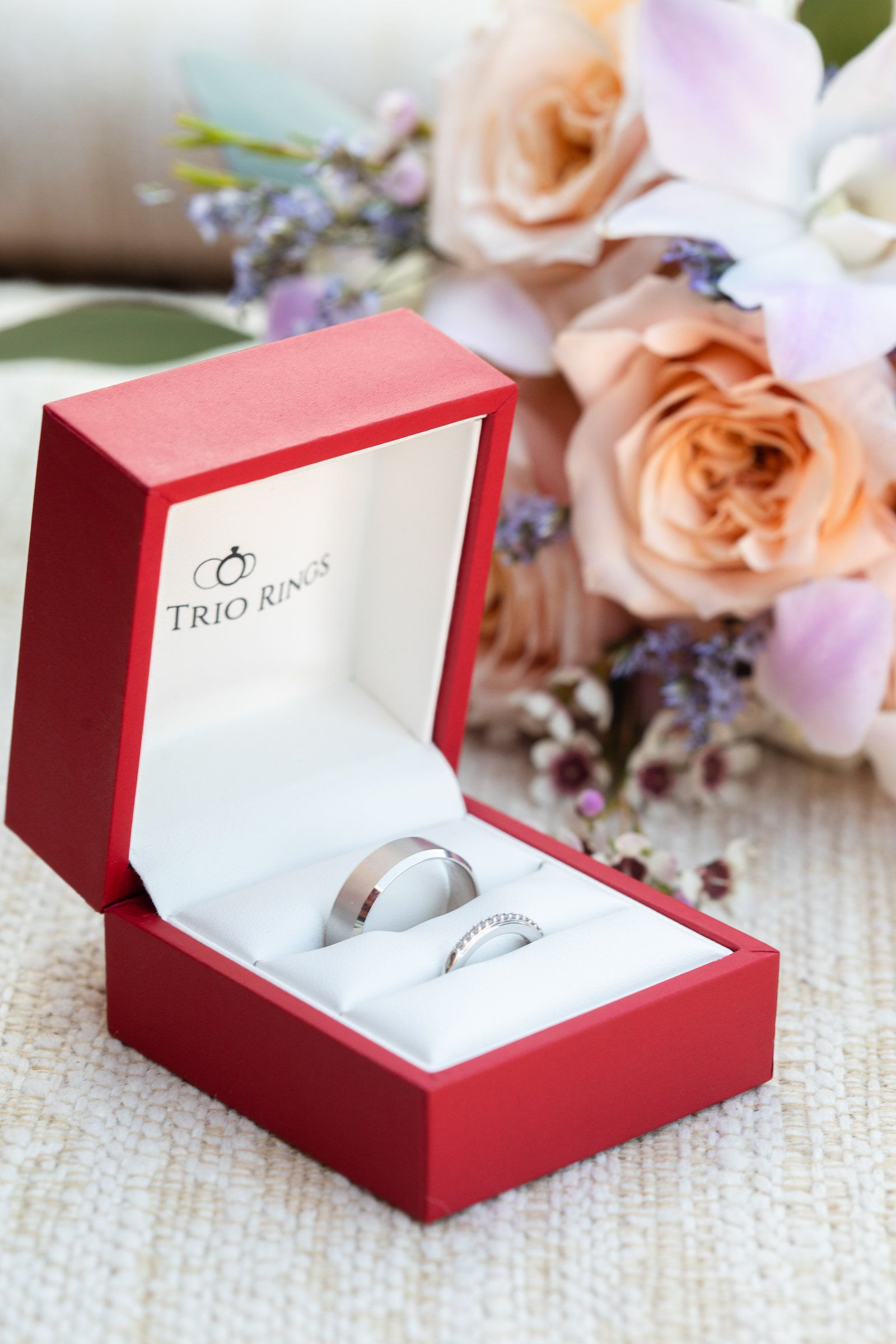 A Custom Wedding Band Set In Our Lrb Little Red Box Meet Our