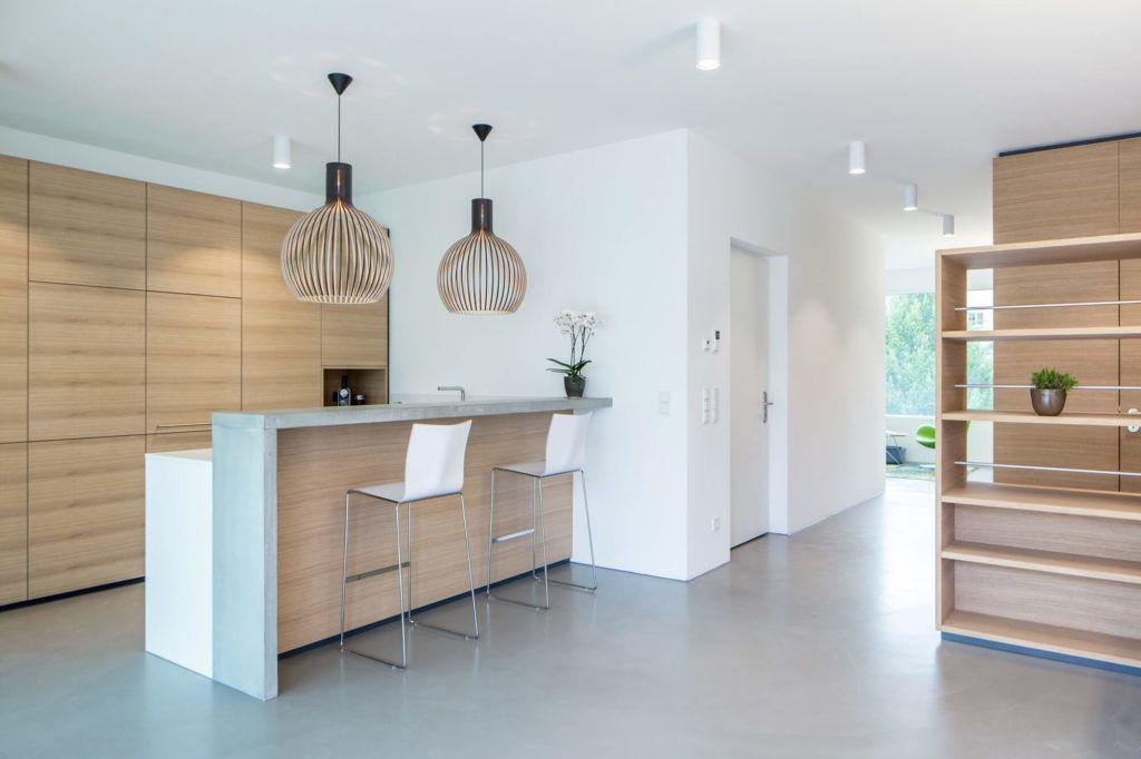 Betonküchen 5 Ideen und inspirierende Bilder für deine Küchenplanung - küchenarbeitsplatte aus beton