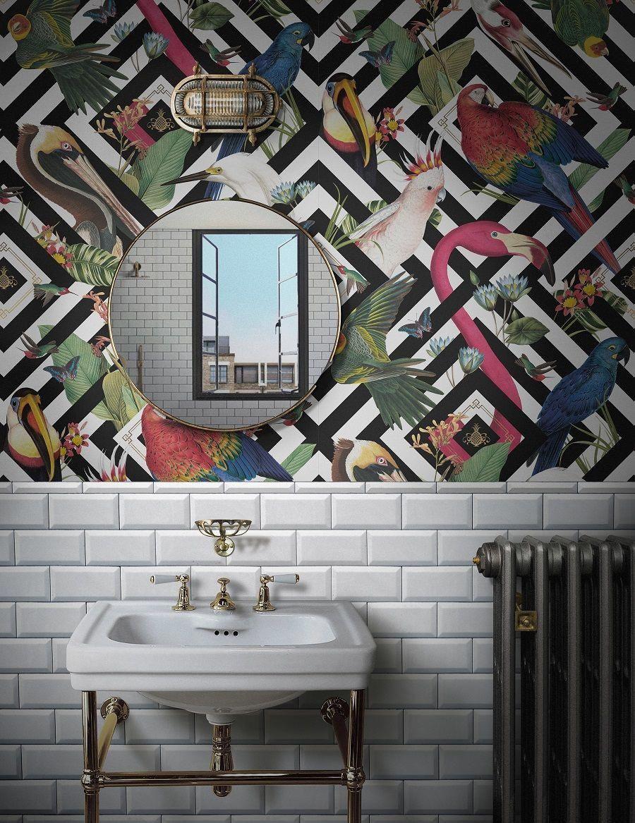 Wallpapermuralstropical Cuartos De Banos Pequenos Diseno Banos