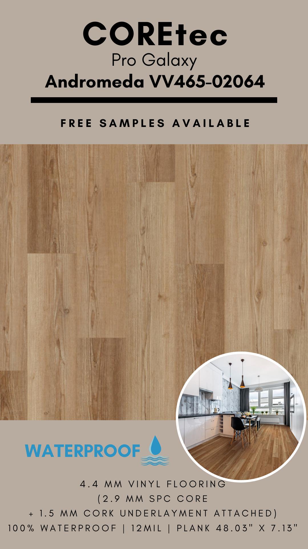 Coretec Pro Galaxy Andromeda Vv465 02064 Spc Vinyl Flooring In 2020 Vinyl Flooring Flooring Cork Underlayment