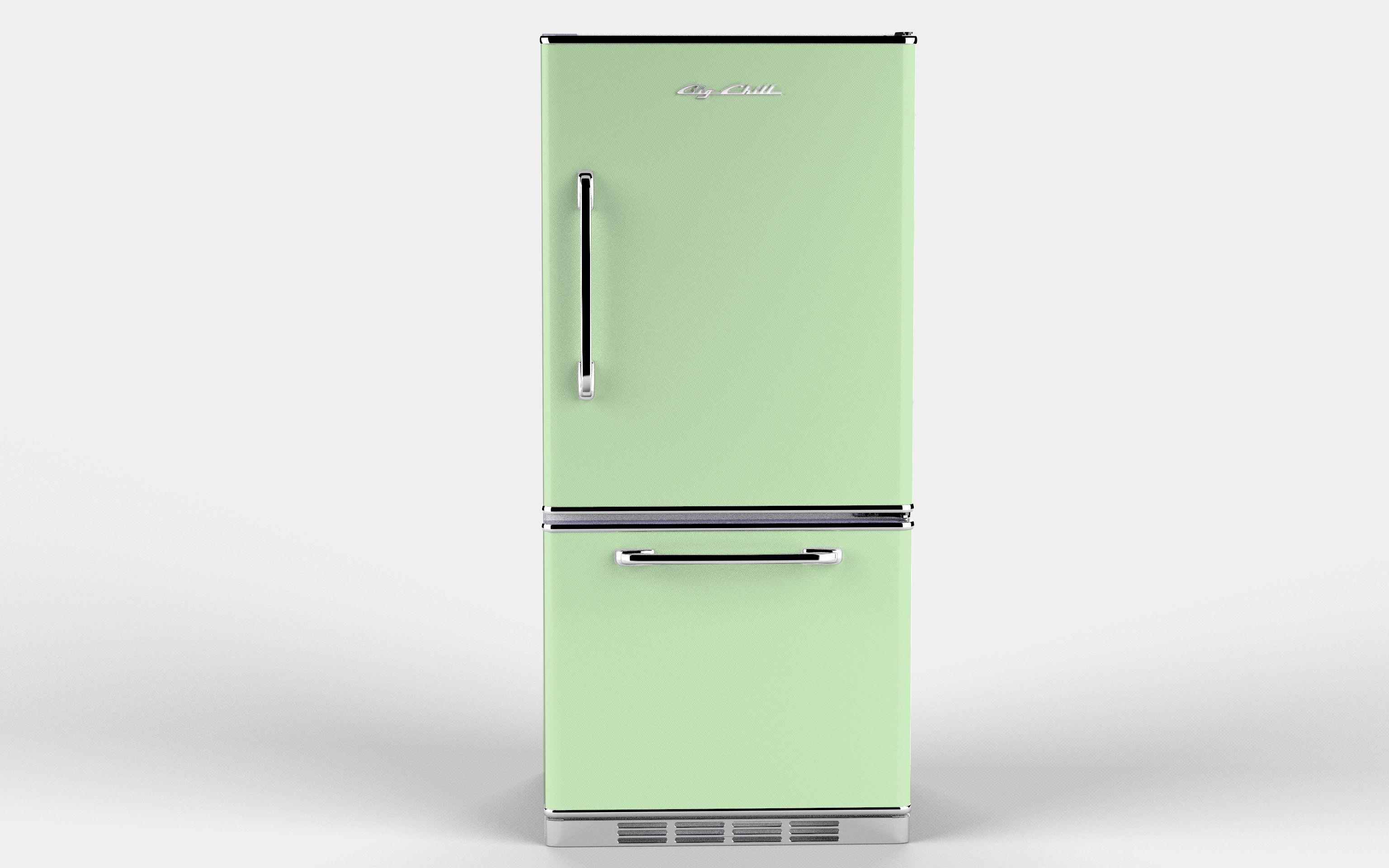 картинки холодильник зеленый белый, купить