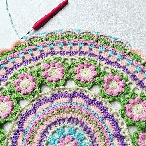 Im adding more rows to my Mandala wip 💜 #handmadewithlove… | Flickr