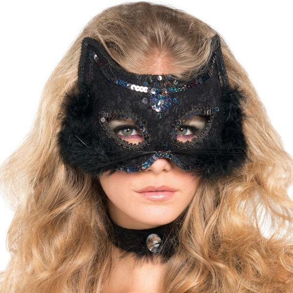 Fancy Black Cat Mask