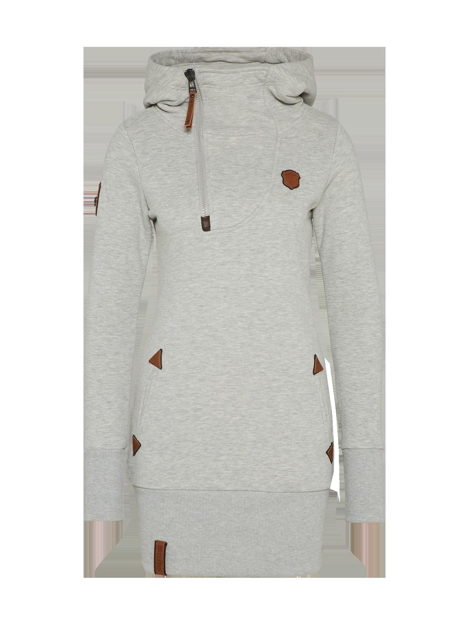 Naketano #Damen #Hoody #Kleid #Ankerbraut #V #grau