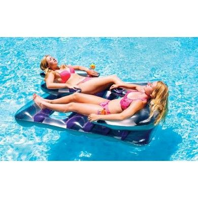 Swimline 9042 Face To Face Double Swimming Pool Float Raft Lounger