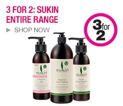 Priceline 3 for 2: Sukin Entire Range!  , Protein conditioner, rose hip oil, purifying body scrub, etc.   http://digbargain.com.au/coupon/priceline-3-for-2-sukin-entire-range/