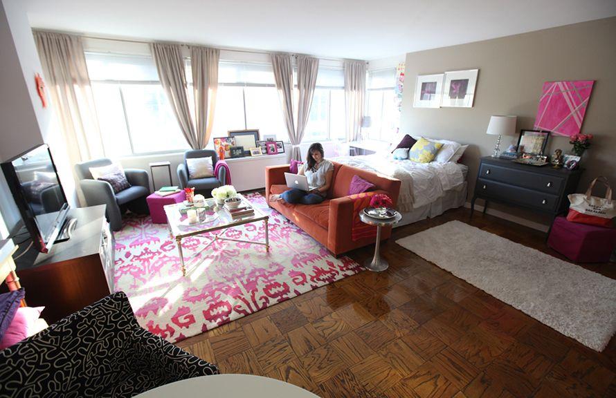 House Tour Nikki Rapports Girly Studio Apartment