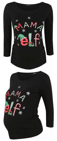 e98ac0765d574 Maternity Mama Elf Christmas Top @ Asda George | Christmas Ideas ...