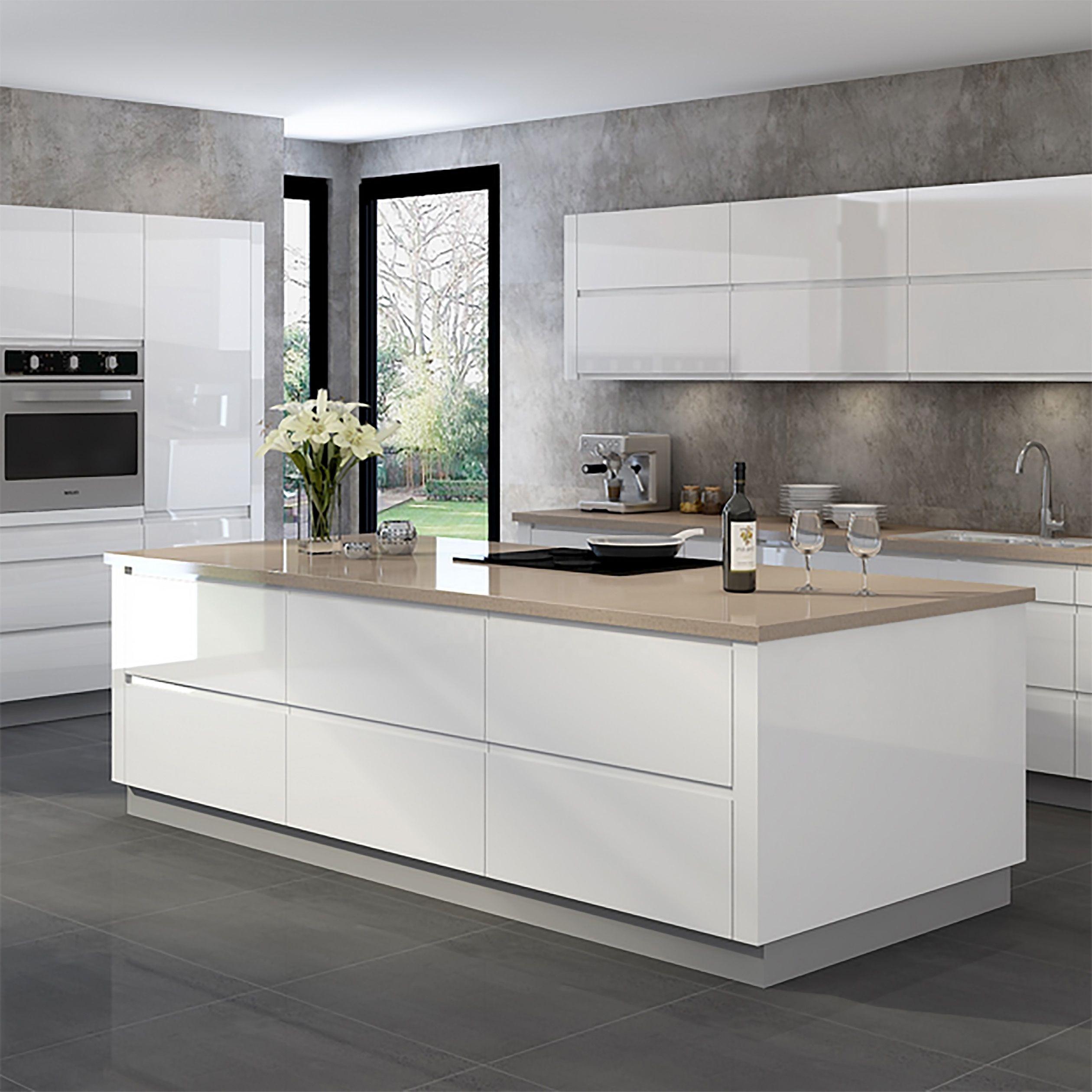 Vermonhouzz Luxury High Gloss Modern Design White Lacquer