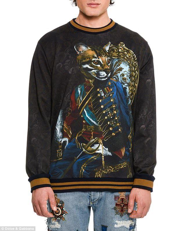 f0fd3c04 Dolce And Gabbana Man, Graphic Sweatshirt, Style Fashion, Mens Fashion,  Cats,