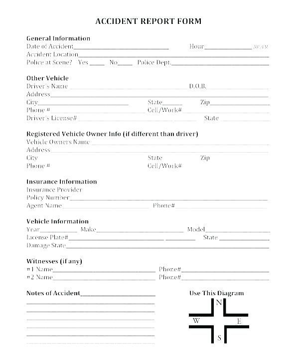 General Incident Report Form Template Incident Report Form