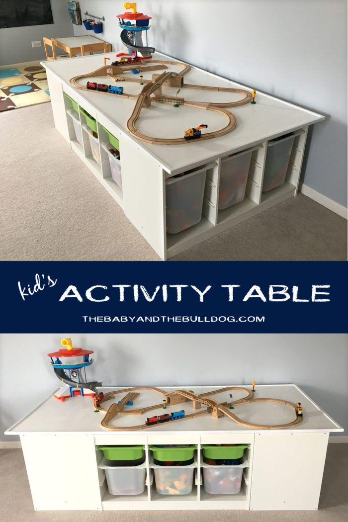Diy Kid S Activity Table Ikea Trofast Hack Perfect For Trains