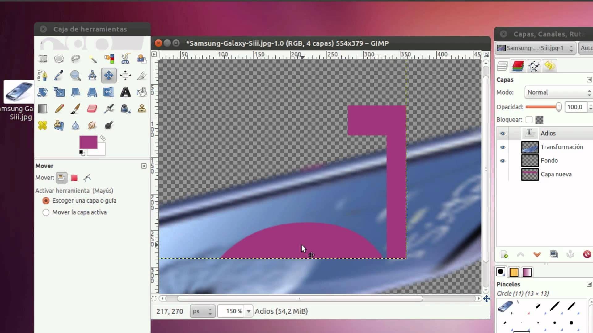 Tutorial Básico De Gimp Pinceles Tecnica Fotografica Estudio