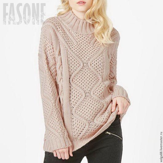 be8175fb8ee Comprar suéter oversayz suéter de color de rosa estafadores las trenzas.  suéter de la mujer. Hecho a mano.