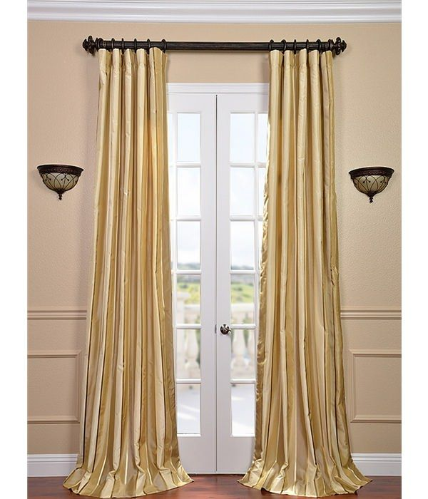Beverly Hills Silk Taffeta Stripe Curtain Half Price Drapes
