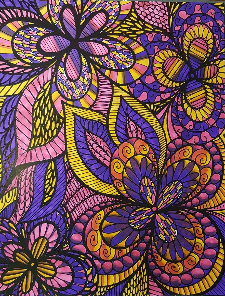 ColorIt Colorful Flowers Volume 1 Colorist Rachel Switzer Adultcoloring Coloringforadults