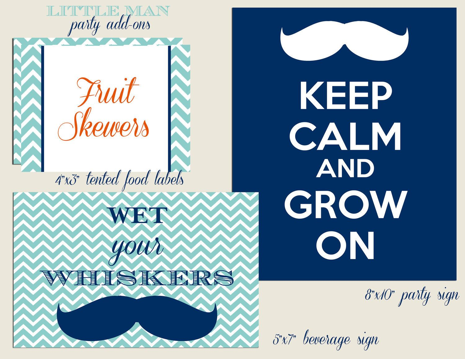 Little man mustache party addons by shopcookiecouture on etsy