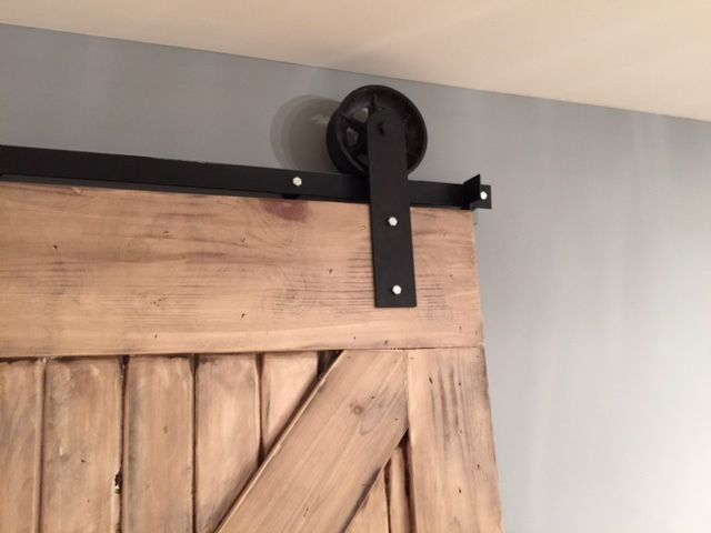 Sliding Barn Door Hardware Kit With Jumbo 6 Wheels And 12 Feet Track 144 Made In Usa Sliding Barn Door Hardware Woodworking Projects Barn Door Hardware
