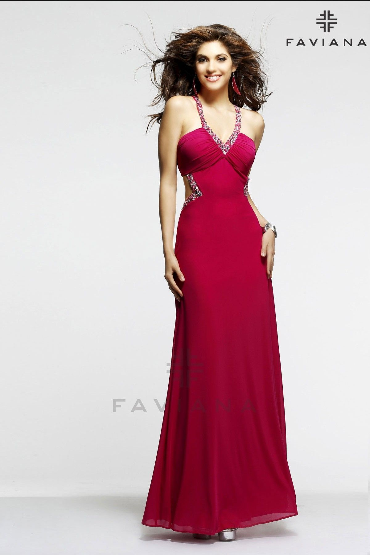 7cc5a1dd1650 7348 Raspberry Cut-Outs Off Price. SNEAK PEEK 2015  Faviana collection   sassyboutique Red Formal Dresses ...