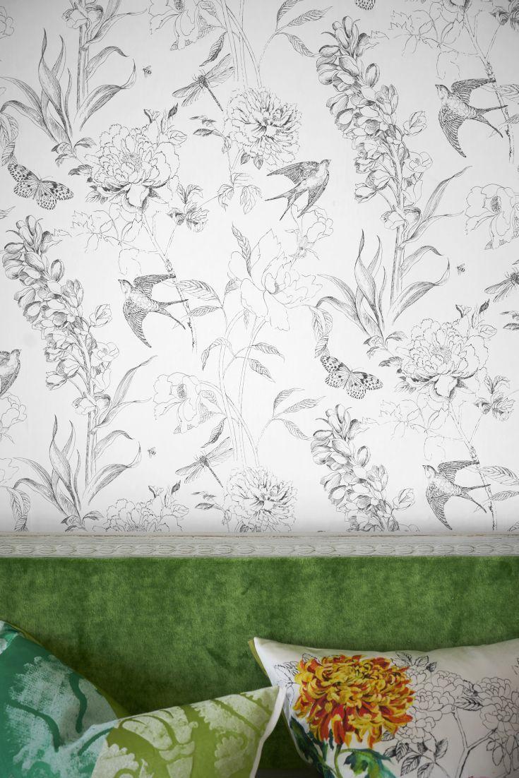 Sibylla Garden By Designers Guild Black White