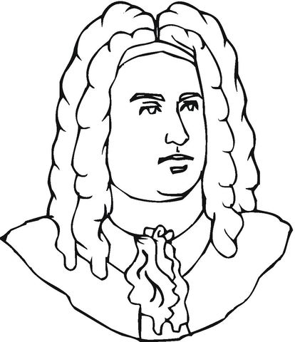 George Handel Coloring Page Compositeurs