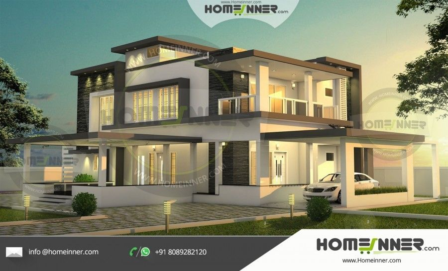 3 Bedroom Modern Luxury House Plan Maison Mitoyenne 3d Home Maison