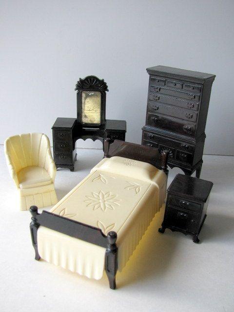 Vintage Ideal Dollhouse Furniture Dollhouses Playhouses
