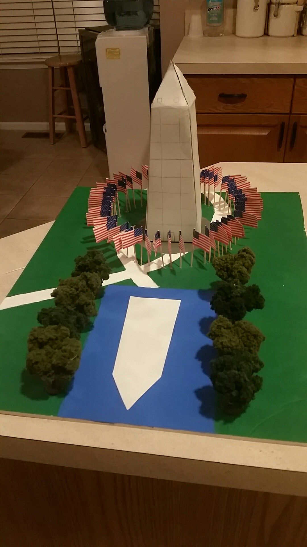 3d School Project Of The Washington Monument