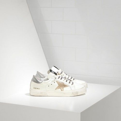 huge discount 6c645 7e23d Sneakers Golden Goose Donna May GGDB Scarpe Pelle E Stella ...